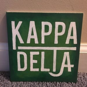Other - Green ombré Kappa Delta canvas
